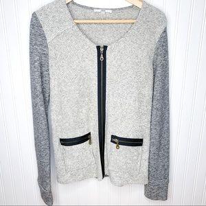 DREW French Terry Zip Blazer Jacket